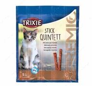 "Лакомство для кошек палочки ягненок-индейка ""PREMIO Quadro-Sticks"""