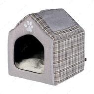 Домик для собак и котов серый Silas