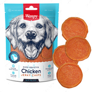 Лакомство для собак чипсы куриные вяленые Wanpy Chicken Jerky Chips