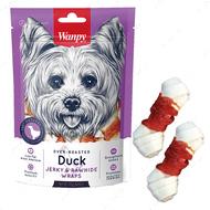 Лакомство для собак кость с узлами и вяленой уткой Duck Jerky & Rawhide Wraps