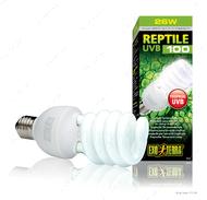 Компактная люминесцентная лампа для облучения лучами УФ-В спектра 26 W REPTI GLO 5.0 UVB 100
