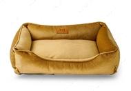 Лежак для кошек и собак Dreamer Velur Caramel