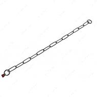 Long Link широкое звено цепочка-ошейник, 3 мм, черная сталь