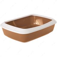 Лоток туалет с бортиком для котов Savic Iriz Nordic Litter Tray Light brown