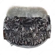Куртка для собак стеганная серебряная Mr.БарBOSS