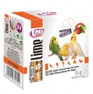 Минеральный камень для птиц - яблоко LoLo Pets lime for BIRD