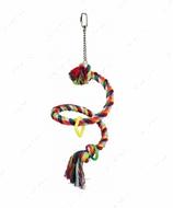 Игрушка-спираль для средних и крупных попугаев Spiral Rope Perch