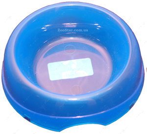 Миска полупрозрачная голубая, объем 600 мл
