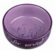 Миска керамическая для кошек - 300 мл Thanks for Service