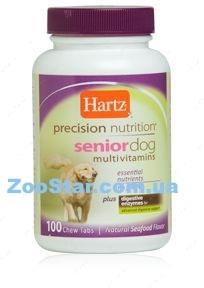 Мультивитаминный комплекс для пожилых собак с таурином Precision Nutrition™ Senior Dog Multivitamins, 100 таб