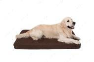 Ортопедический стеганный матрас из коричневой мебельной  рогожки с усиленной поверхностью Oliver Brown