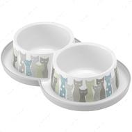 Миска двойная для котов и собак Moderna Double Trendy Dinner Maasai