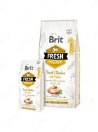 Сухой корм со свежей курицей и картофелем для взрослых собак всех пород Brit Fresh Chicken with Potato Adult Great Life