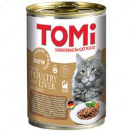 Консервы для котов влажный корм Томи ПТИЦА ПЕЧЕНЬ TOMi poultry liver