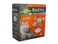 Комкующийся наполнитель туалетов для кошек Super Premium White Activated Carbon BioKitty