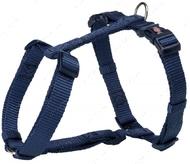 Нейлоновая шлея-восьмёрка индиго Premium H-Harness indigo