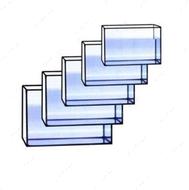 Набор из 6 прямоугольных аквариумов