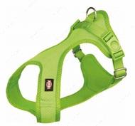 Нейлоновая шлея-майка для собак, зеленая Soft
