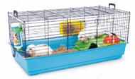НЕРО 3 ДЕЛЮКС (Nero 3 De Luxe) клетка для кроликов, морских свинок, крыс , поддон синий | 100Х50Х47 см.
