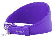 Ошейник без украшений для борзых собак фиолетовый GLAMOUR WAUDOG
