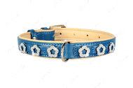 Ошейник с украшениями «Цветочек» КОЛЛАР БРИЛЛИАНС синий
