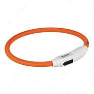 Ошейник светящийся с USB зарядкой, оранжевый