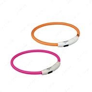 Ошейник светящийся с USB зарядкой, розовый