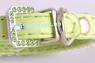 Комплект  Ошейник Зеленый Со Стразами - 22 см + поводок