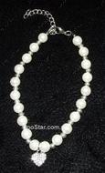 """Ожерелье жемчужное однорядное  с кулоном """"Очарование"""" белое"""
