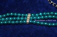 """Ожерелье жемчужное трехрядное """"Блюз"""" голубое"""