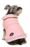 Пальто розовое на овчинке, размер 2