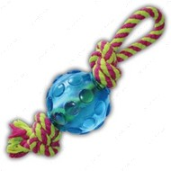 Мини мячик с канатиками - игрушка для собак PETSTAGES Mini Orka Ball with rope Орка