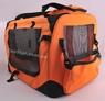 Переноска каркасная-складная нейлон Оранжевая, размер 3 Lux