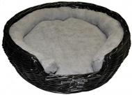 Плетенная лежанка из лозы черная, 3 размера.