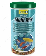 Pond Multi Mix корм из нескольких сортов корма в виде палочек, хлопьев, таблеток и гаммаруса