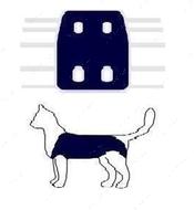 Послеоперационная попона для собак и котов синяя