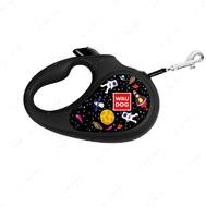 Поводок-рулетка для собак лента WAUDOG с рисунком NASA
