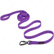 Поводок для собак светоотражающий фиолетовый СOTTON