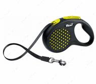 Поводок - рулетка лента 5 м до 25 кг DESIGN, Tape Leash M