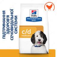 Лечебный корм для собак помогающий снизить риск струвитного и кальций оксалатного уролитиаза Prescription Diet™ Canine c/d Multicare