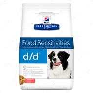 Лечебный корм для собак при дерматологических или желудочно-кишечных расстройства c лососем и рисом Hill's™ Prescription Diet™ d/d™
