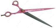 Профессиональные классические ножницы, с защитным покрытием, экстра, розовые