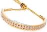 """Ринговка золотая с расширителем украшенным кристаллами, модель """"Glamour"""""""