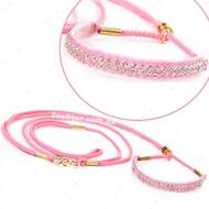 """Ринговка розовая с расширителем украшенным кристаллами, модель """"Glamour"""""""