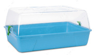 РОДИ ХАМСТЕР (Rody Hamster Basic) клетка для хомяков, крыс, поддон ярко-голубой | 55Х39Х26 см.