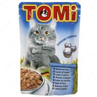 Консервы  для кошек с мясом лосося и форелью TOMi salmon trout, пауч