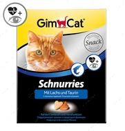 """Витаминизированные сердечки с таурином и лососем с ТГОС для кошек """"Schnurries Salmon"""""""