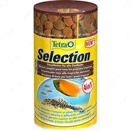 """""""Selection 4 в 1"""" кормовая комбинация для тропических рыб, которые питаются в разных водных регионах"""