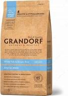 Сухой корм для собак всех пород с белой рыбой и рисом Grandorf Sensitive Care Holistic White Fish & Brown Rice All Breeds