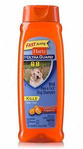 Шампунь для собак от блох и клещей с ароматом свежего цитруса Ultra Guard Rid Flea & Tick Dog Shampoo, Fresh Citrus